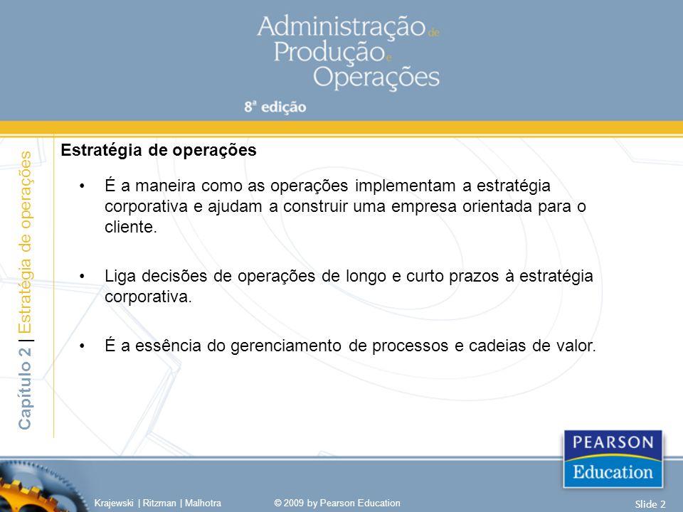 •É a maneira como as operações implementam a estratégia corporativa e ajudam a construir uma empresa orientada para o cliente.
