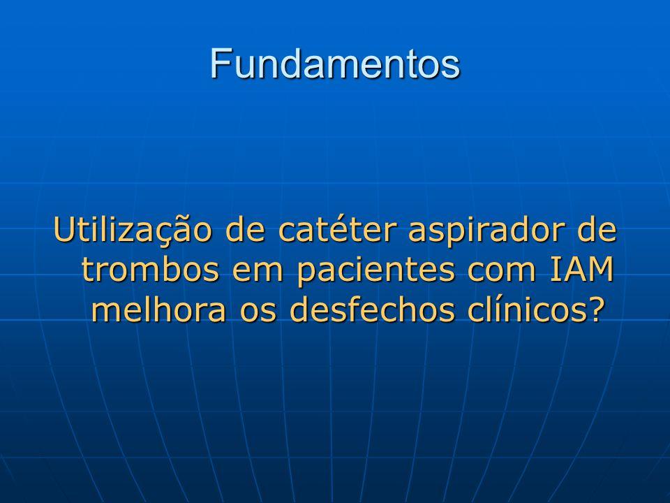 Fundamentos Utilização de catéter aspirador de trombos em pacientes com IAM melhora os desfechos clínicos?
