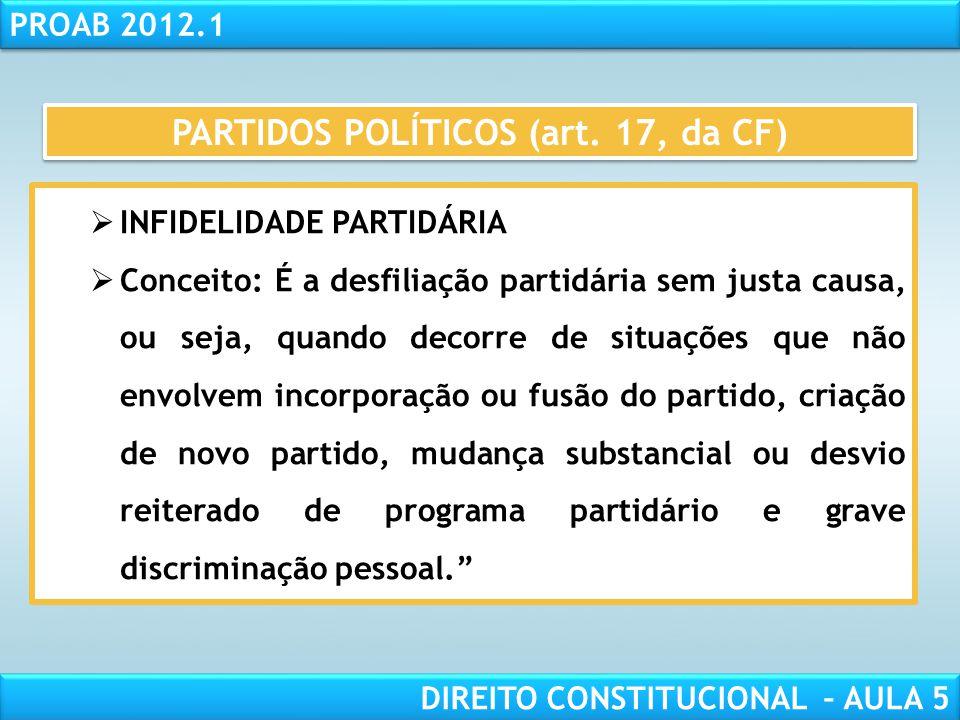 RESPONSABILIDADE CIVIL AULA 1 PROAB 2012.1 DIREITO CONSTITUCIONAL – AULA 5  DEVERES DOS PARTIDOS:  Prestação de contas à justiça eleitoral (art. 17,