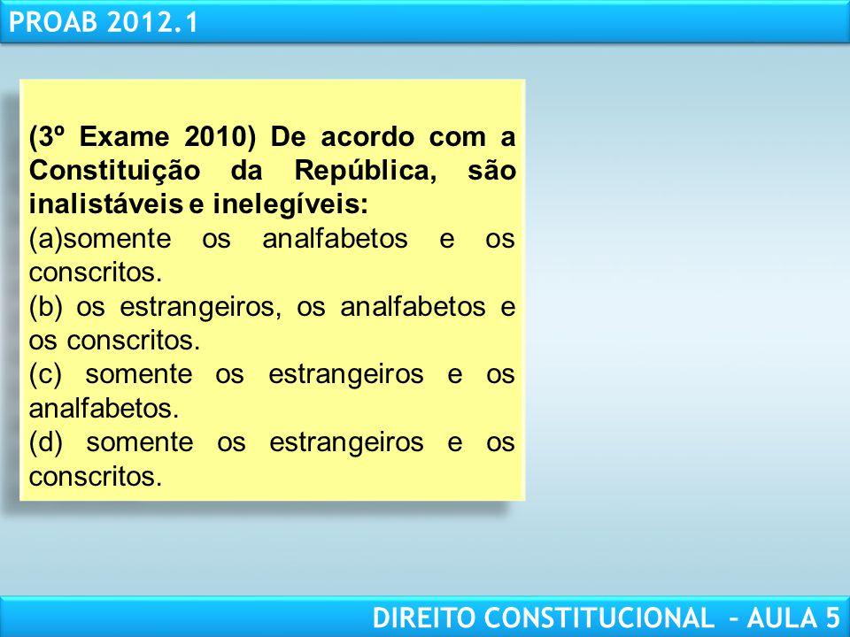 RESPONSABILIDADE CIVIL AULA 1 PROAB 2012.1 DIREITO CONSTITUCIONAL – AULA 5 d) Presidente de câmara municipal que substitua ou suceda o prefeito nos se