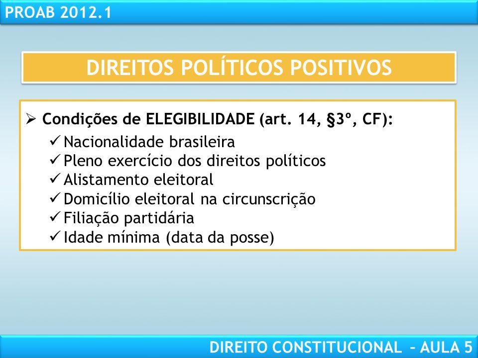 RESPONSABILIDADE CIVIL AULA 1 PROAB 2012.1 DIREITO CONSTITUCIONAL – AULA 5  ALISTABILIDADE e VOTO (art. 14, §1º, CF):  Obrigatório  Facultativo  D
