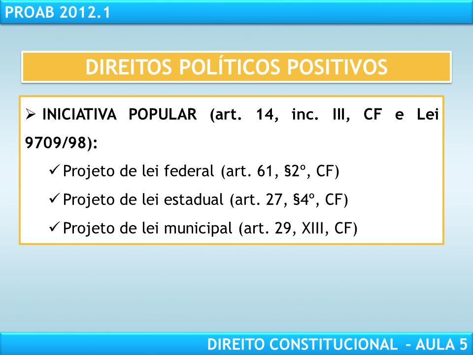 RESPONSABILIDADE CIVIL AULA 1 PROAB 2012.1 DIREITO CONSTITUCIONAL – AULA 5  Condições de ELEGIBILIDADE (art. 14, §3º, CF):  Nacionalidade brasileira