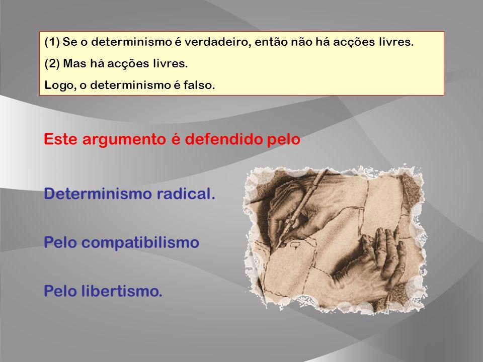 Porque um argumento válido com pelo menos uma premissa falsa tanto pode ter conclusão verdadeira como falsa. Certo!