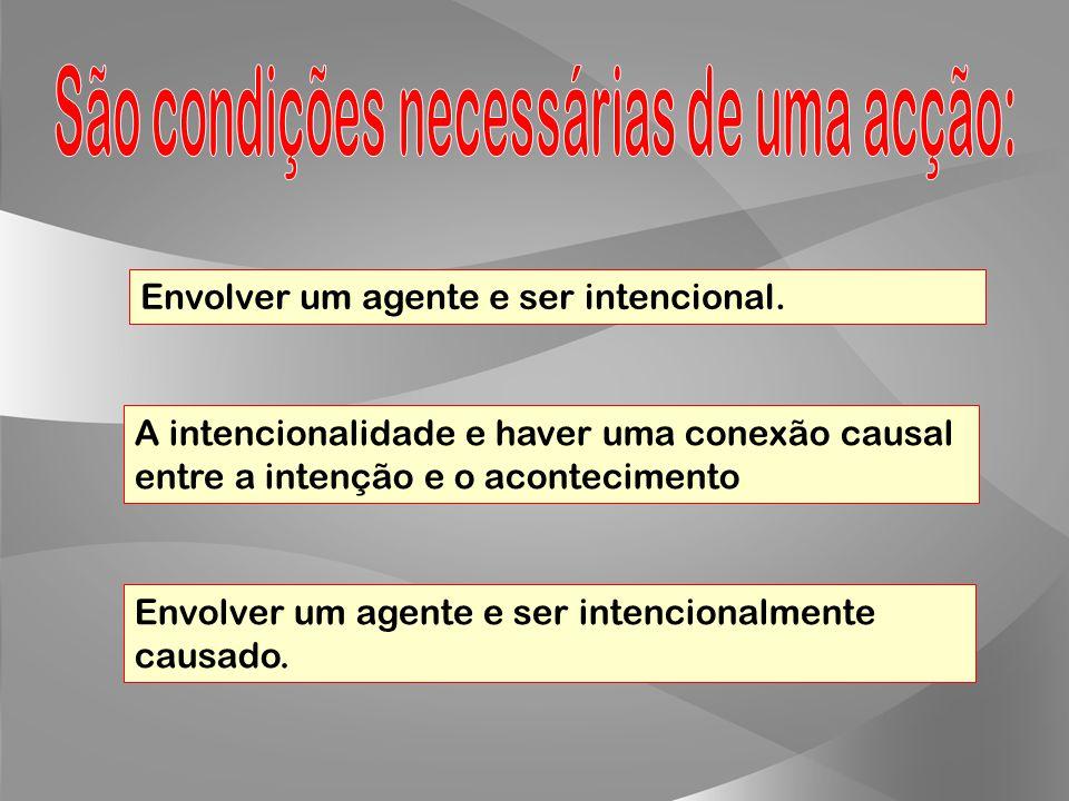 Para designar os comportamentos intencionais que realizamos consciente e voluntariamente. Para designar o que acontece a uma pessoa, independentemente