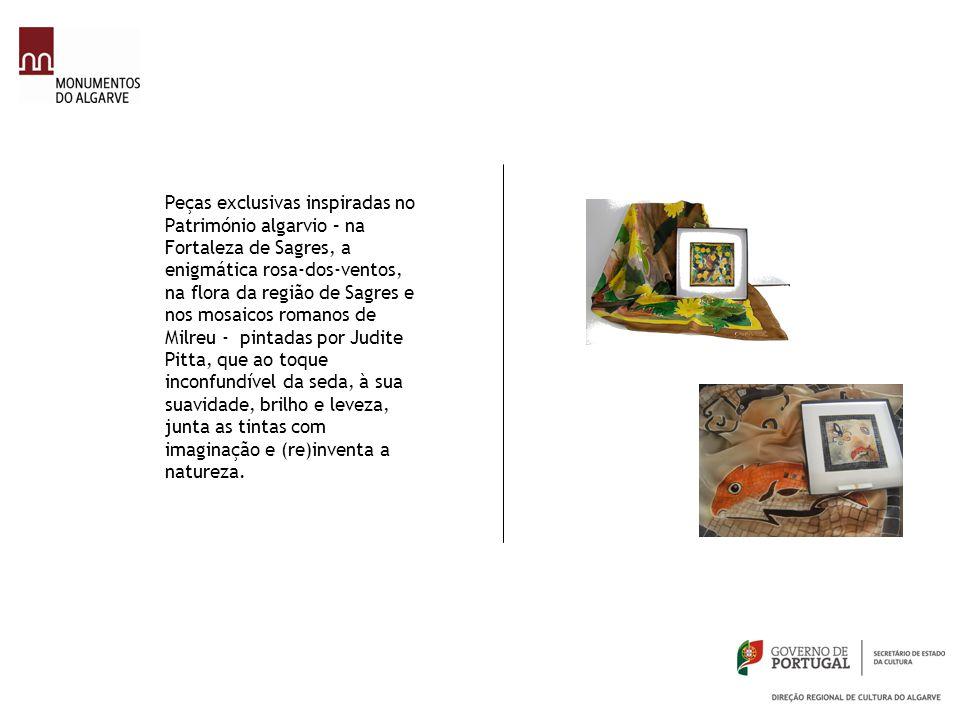 Peças exclusivas inspiradas no Património algarvio – na Fortaleza de Sagres, a enigmática rosa-dos-ventos, na flora da região de Sagres e nos mosaicos