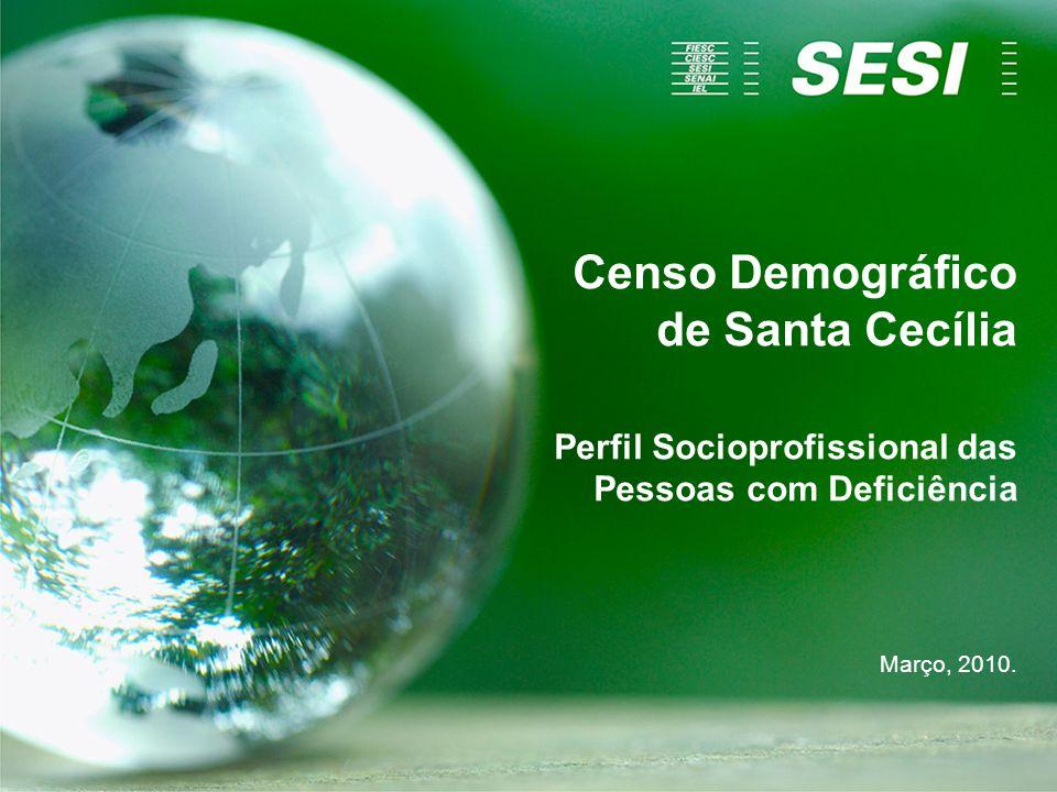 Censo Demográfico de Santa Cecília Perfil Socioprofissional das Pessoas com Deficiência Março, 2010.