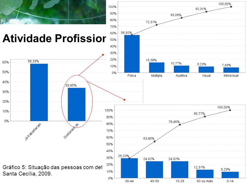 Atividade Profissional Gráfico 5: Situação das pessoas com deficiência no mercado de trabalho, Santa Cecília, 2009.