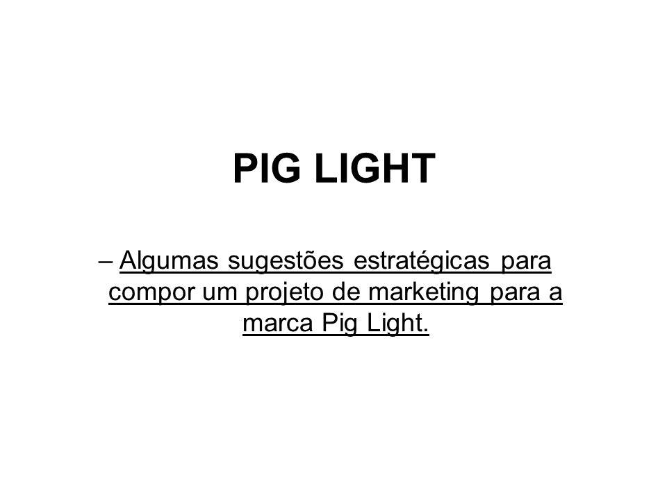 PIG LIGHT –Algumas sugestões estratégicas para compor um projeto de marketing para a marca Pig Light.