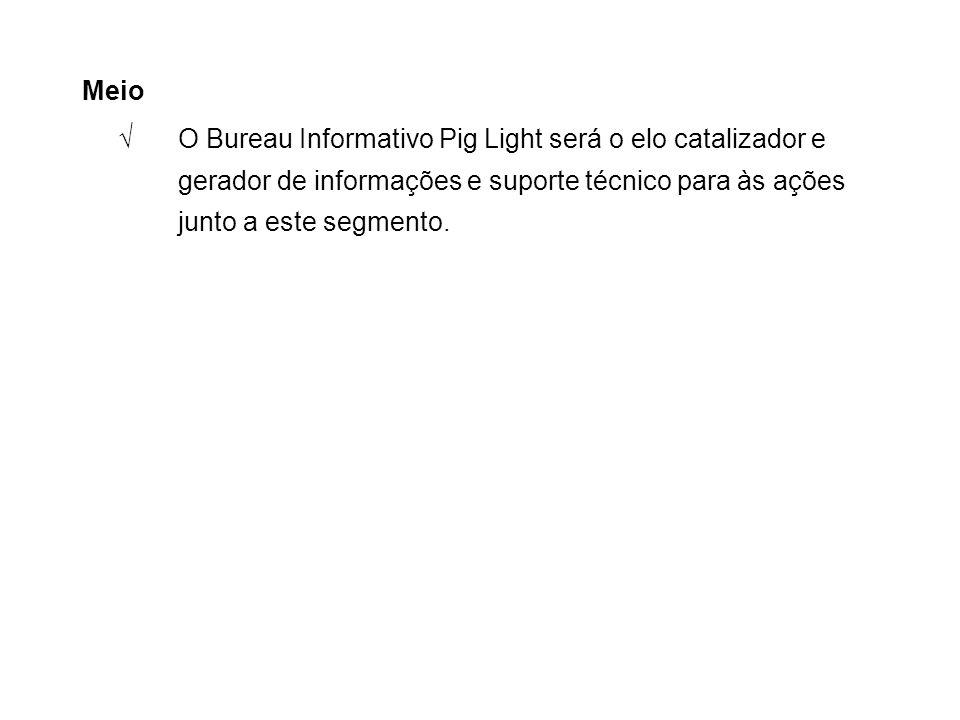 Meio √O Bureau Informativo Pig Light será o elo catalizador e gerador de informações e suporte técnico para às ações junto a este segmento.