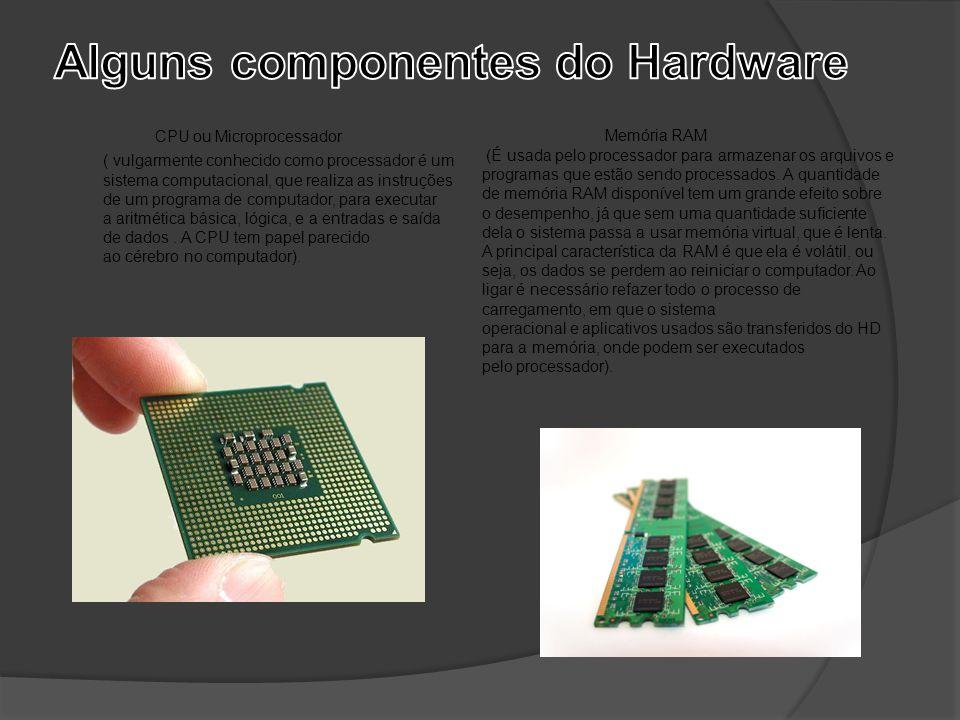 CPU ou Microprocessador ( vulgarmente conhecido como processador é um sistema computacional, que realiza as instruções de um programa de computador, p