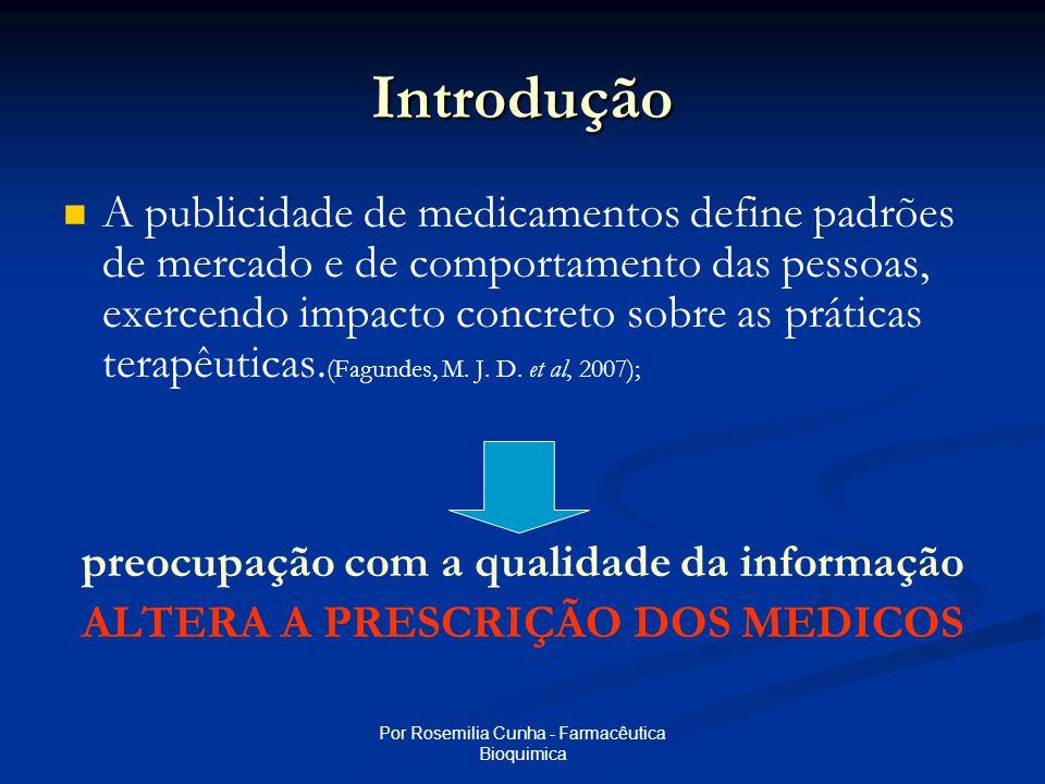 Por Rosemilia Cunha - Farmacêutica Bioquimica Introdução   Apelo ao consumo e bens de serviços e a estratégia de ligar este consumo ao desfrute (real ou fictício) de bem-estar, saúde e felicidade é uma das características da sociedade moderna.