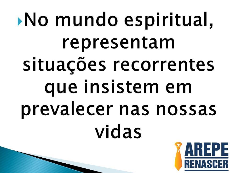  No mundo espiritual, representam situações recorrentes que insistem em prevalecer nas nossas vid as