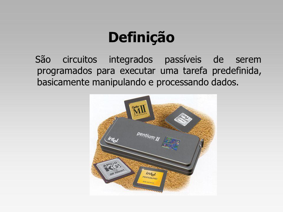 Tecnologia RISC (Reduced Instruction Set Computing) É uma tecnologia caracterizada pelas instruções simples, decodificadas através do compilador.