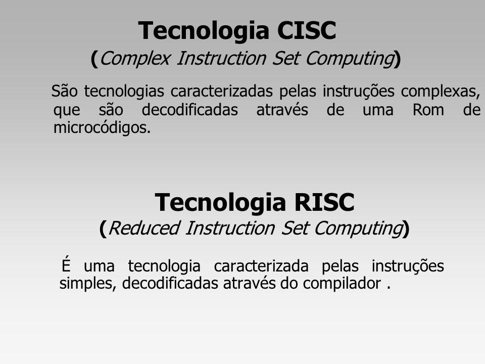 Divisão da CPU Unidade de Execução Unidade de Controle Processamento de Instruções 30% - Validade das instruções - decodifica - Dependência das instruções - Sequências das instruções - Arrumação das instruções de forma a tirar o máximo do desempenho da unidade de execução 70%