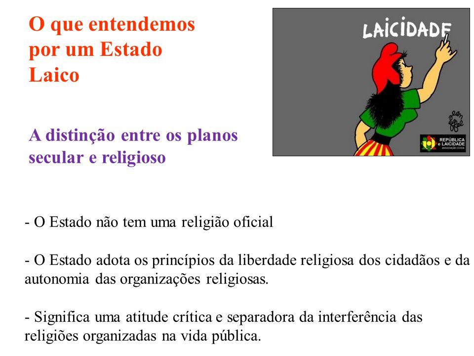 - O Estado não tem uma religião oficial - O Estado adota os princípios da liberdade religiosa dos cidadãos e da autonomia das organizações religiosas.