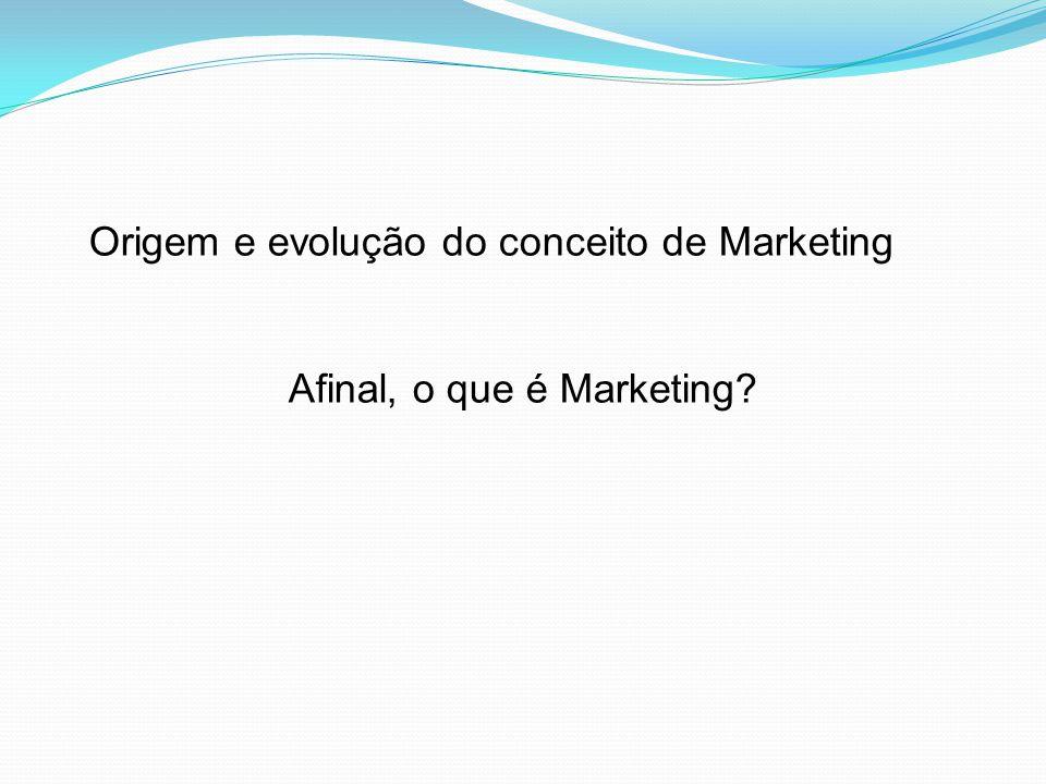 O Marketing tem papel importante nas organizações, principalmente em uma economia de livre concorrência.