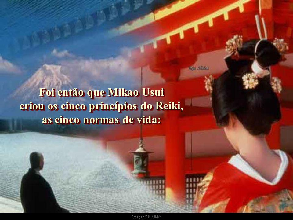 """Criação Ria Slides Foi então que Mikao lembrou o início do Caminho dos Abades... Foi então que Mikao lembrou o início do Caminho dos Abades... """"A cura"""