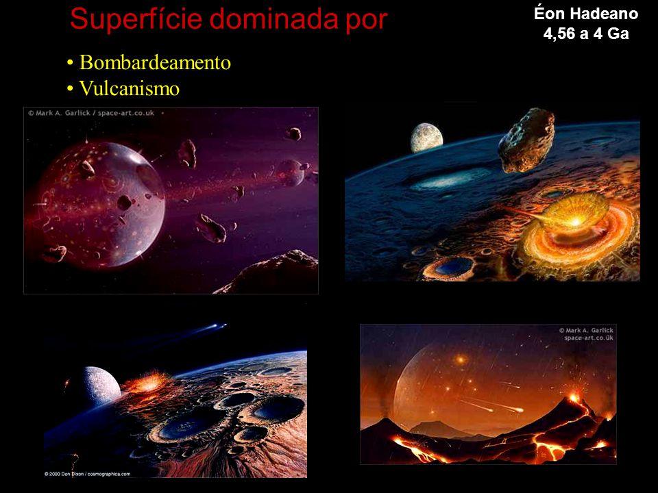 Superfície dominada por • Bombardeamento • Vulcanismo Éon Hadeano 4,56 a 4 Ga
