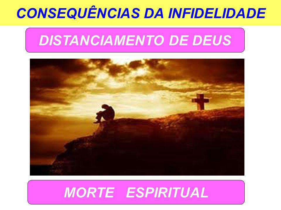 CONSEQUÊNCIAS DA INFIDELIDADE DISTANCIAMENTO DE DEUS MORTE ESPIRITUAL