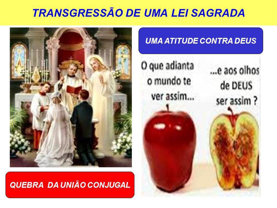 TRANSGRESSÃO DE UMA LEI SAGRADA QUEBRA DA UNIÃO CONJUGAL UMA ATITUDE CONTRA DEUS