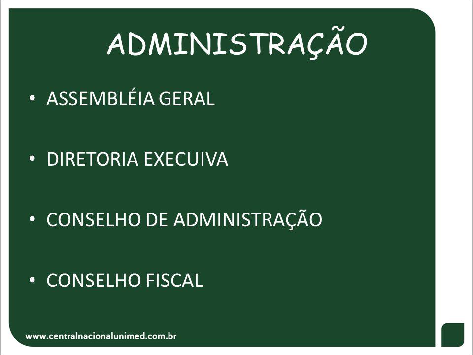 ADMINISTRAÇÃO • ASSEMBLÉIA GERAL • DIRETORIA EXECUIVA • CONSELHO DE ADMINISTRAÇÃO • CONSELHO FISCAL