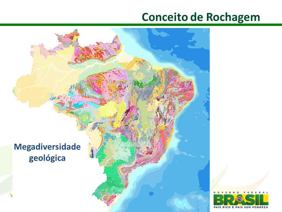 Megadiversidade geológica Conceito de Rochagem