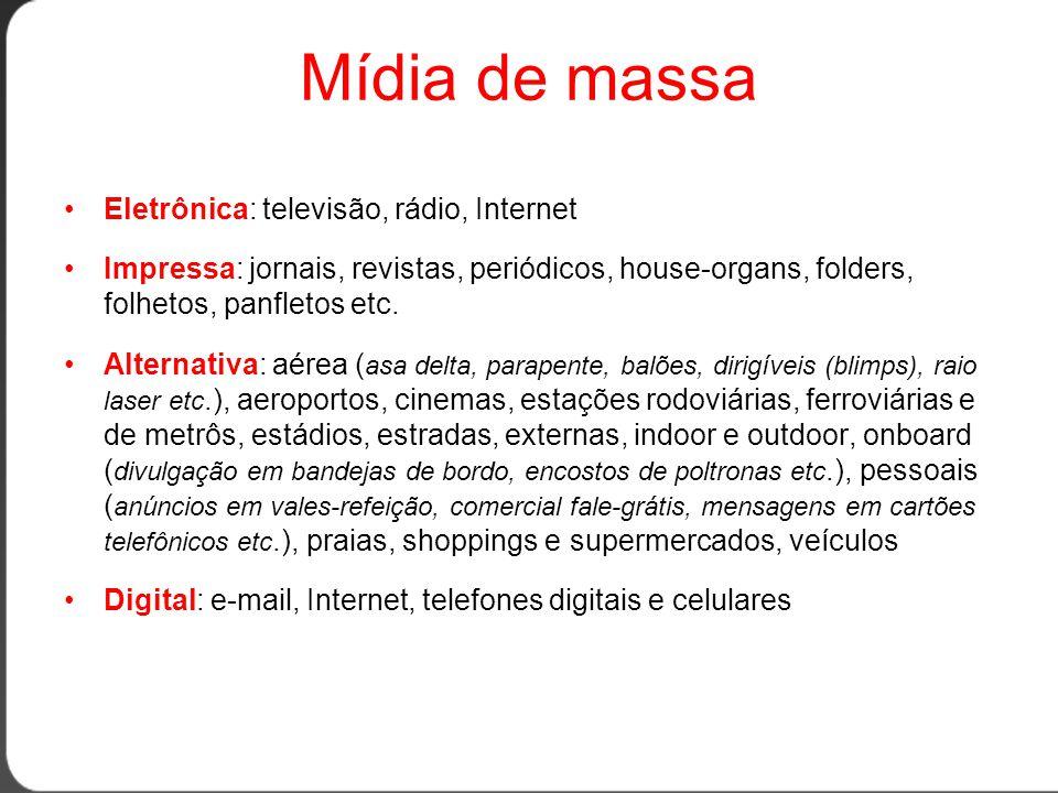 Televisão •Áudiovisual.•É o maior meio publicitário do país.