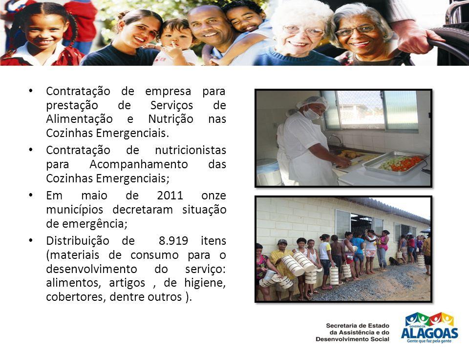 • Contratação de empresa para prestação de Serviços de Alimentação e Nutrição nas Cozinhas Emergenciais.