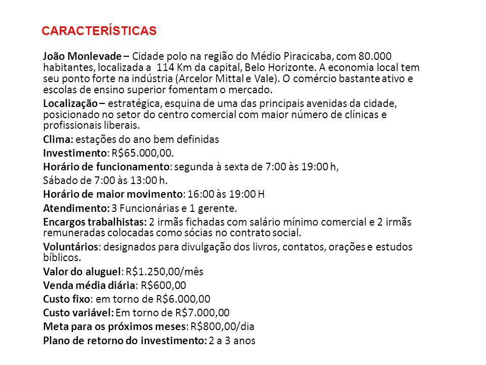 CARACTERÍSTICAS João Monlevade – Cidade polo na região do Médio Piracicaba, com 80.000 habitantes, localizada a 114 Km da capital, Belo Horizonte. A e