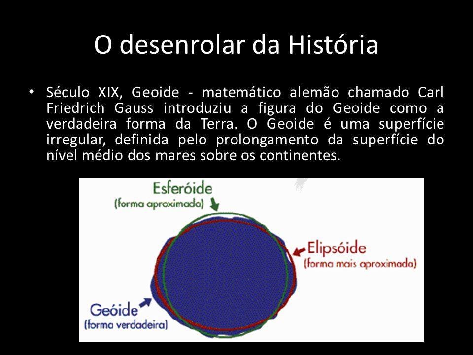O desenrolar da História • Século XIX, Geoide - matemático alemão chamado Carl Friedrich Gauss introduziu a figura do Geoide como a verdadeira forma d