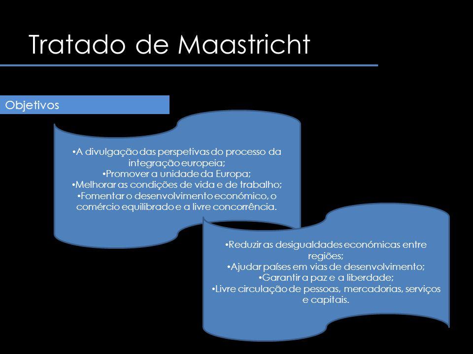 Tratado de Maastricht O Tratado da União Europeia fortalece o poder da Europa como dos países.