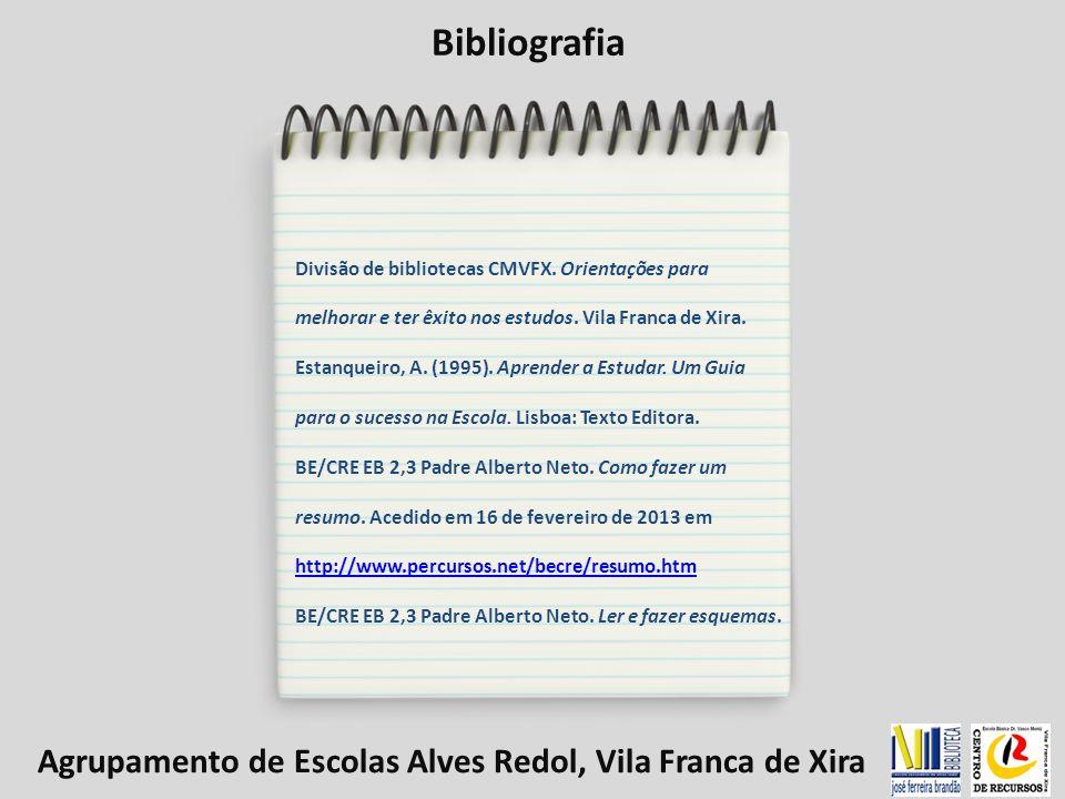 Bibliografia Divisão de bibliotecas CMVFX.Orientações para melhorar e ter êxito nos estudos.