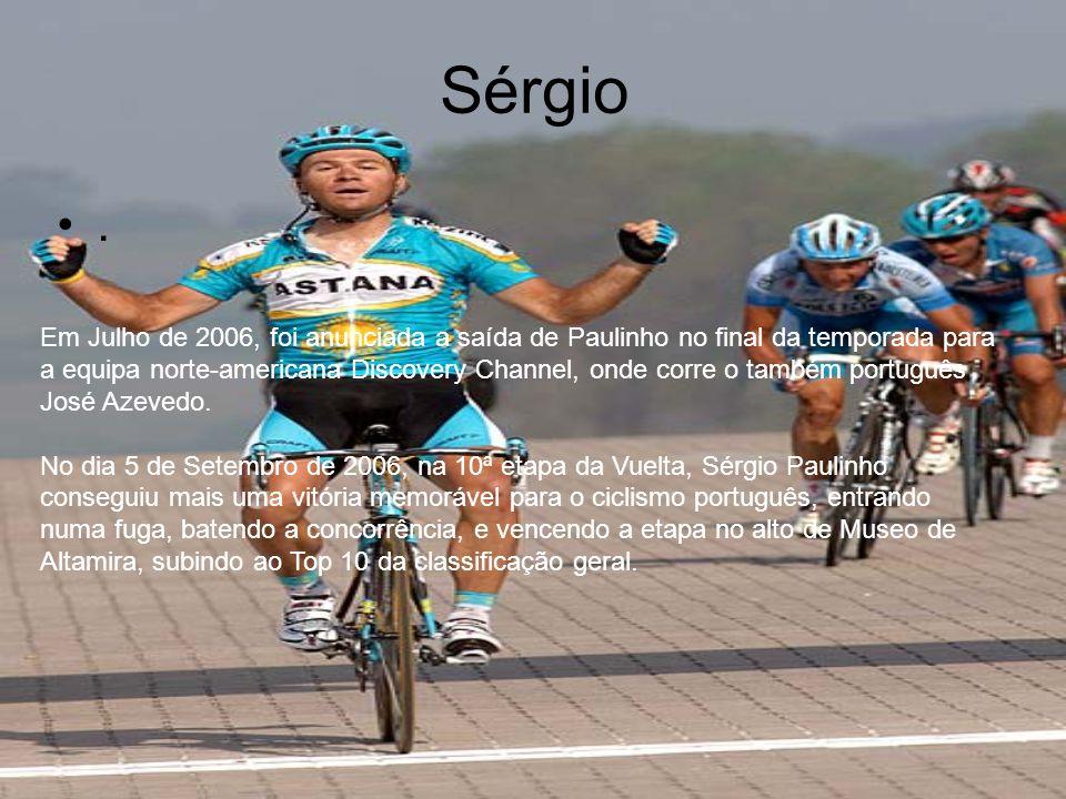 Histórico •Em 2004 foi 6º na Volta a Portugal.