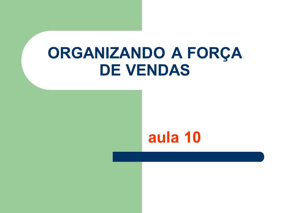 ORGANIZANDO A FORÇA DE VENDAS aula 10