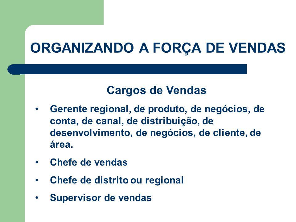 •Gerente regional, de produto, de negócios, de conta, de canal, de distribuição, de desenvolvimento, de negócios, de cliente, de área. •Chefe de venda