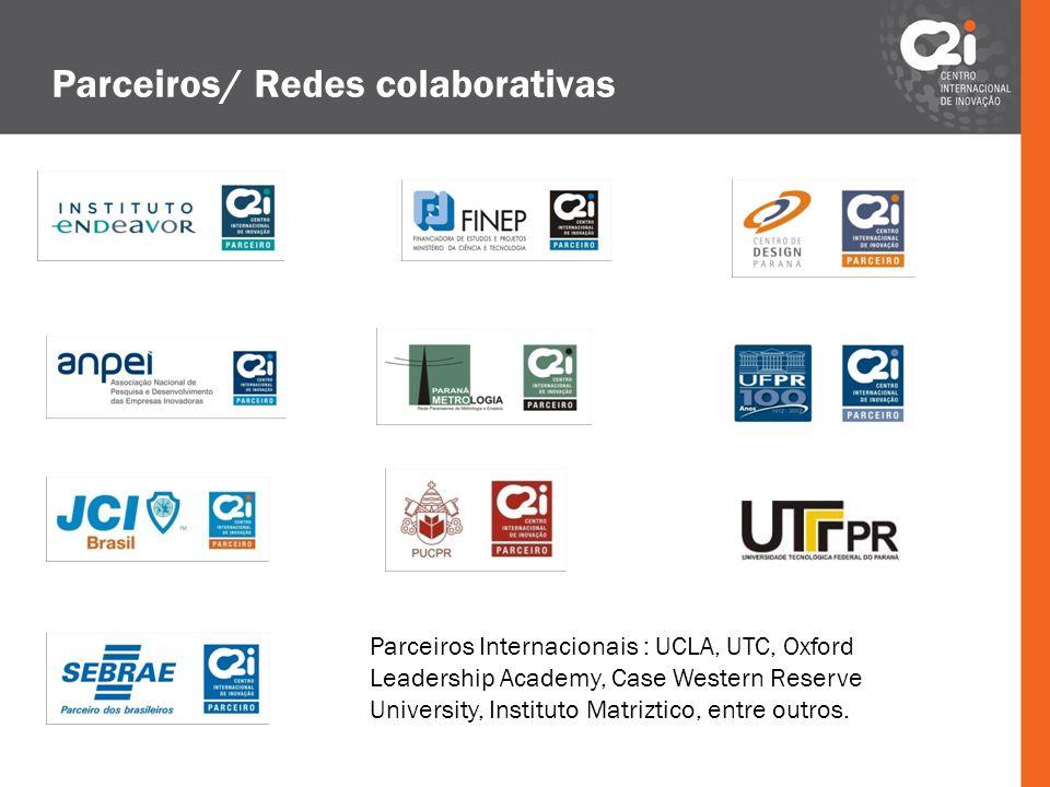 Parceiros/ Redes colaborativas Parceiros Internacionais : UCLA, UTC, Oxford Leadership Academy, Case Western Reserve University, Instituto Matriztico,