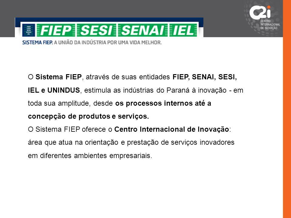 O Sistema FIEP, através de suas entidades FIEP, SENAI, SESI, IEL e UNINDUS, estimula as indústrias do Paraná à inovação - em toda sua amplitude, desde