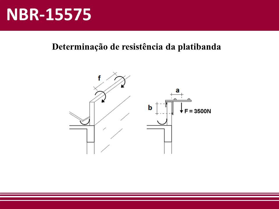 NBR-15575 Determinação de resistência da platibanda