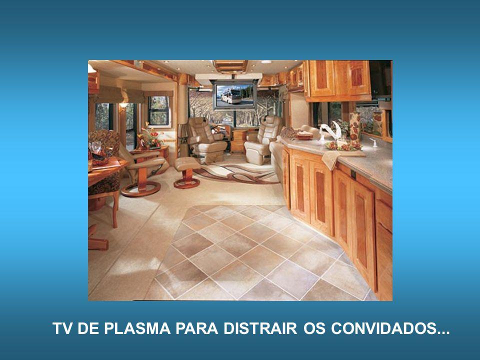 TV DE PLASMA PARA DISTRAIR OS CONVIDADOS...