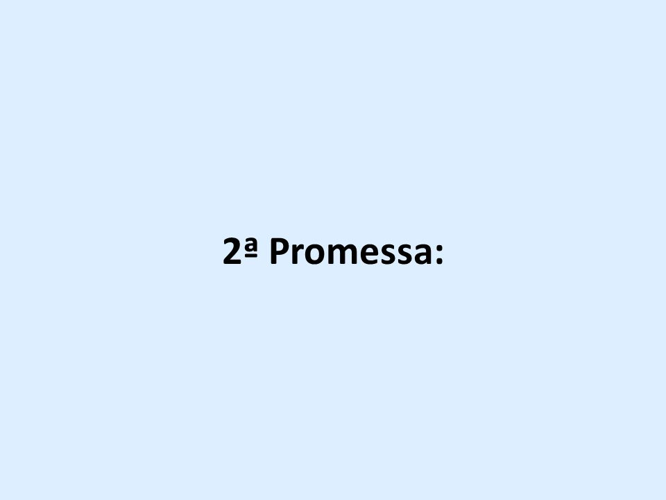 2ª Promessa: