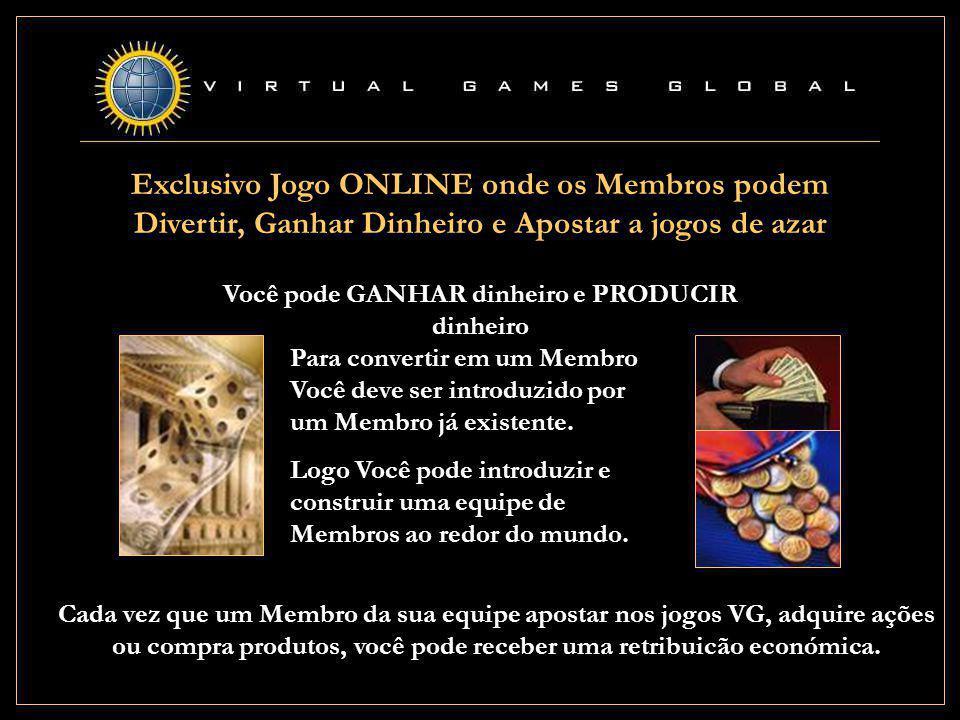 VIRTUAL GAMES GLOBAL Abertura Oficial: Abril 2001 Escritorio de Operação Costa Rica Licença de Jogo On-line: Belize Auditores externos: Price Waterhouse Coopers Bankeros: Hong Kong Shanghai Bank