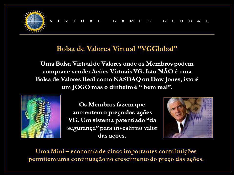 Bolsa de Valores Virtual VGGlobal Uma Bolsa Virtual de Valores onde os Membros podem comprar e vender Ações Virtuais VG.