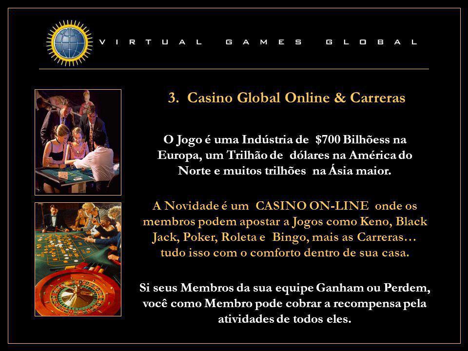 3. Casino Global Online & Carreras A Novidade é um CASINO ON-LINE onde os membros podem apostar a Jogos como Keno, Black Jack, Poker, Roleta e Bingo,