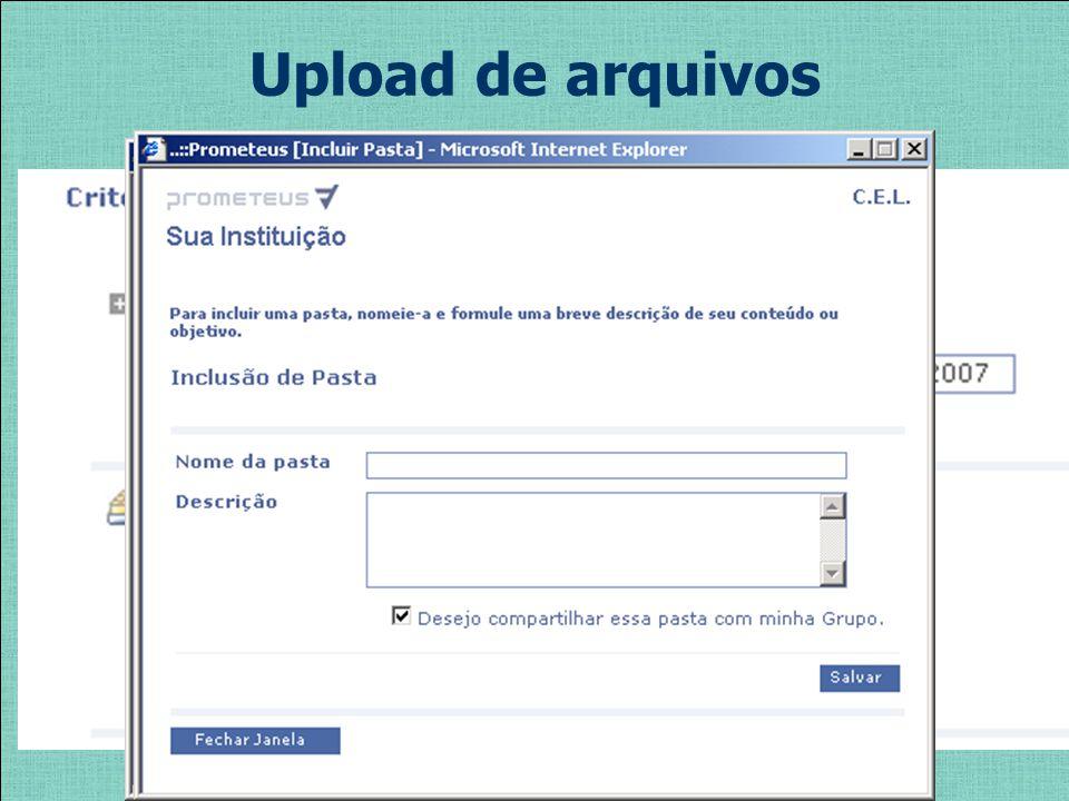 Upload de arquivos