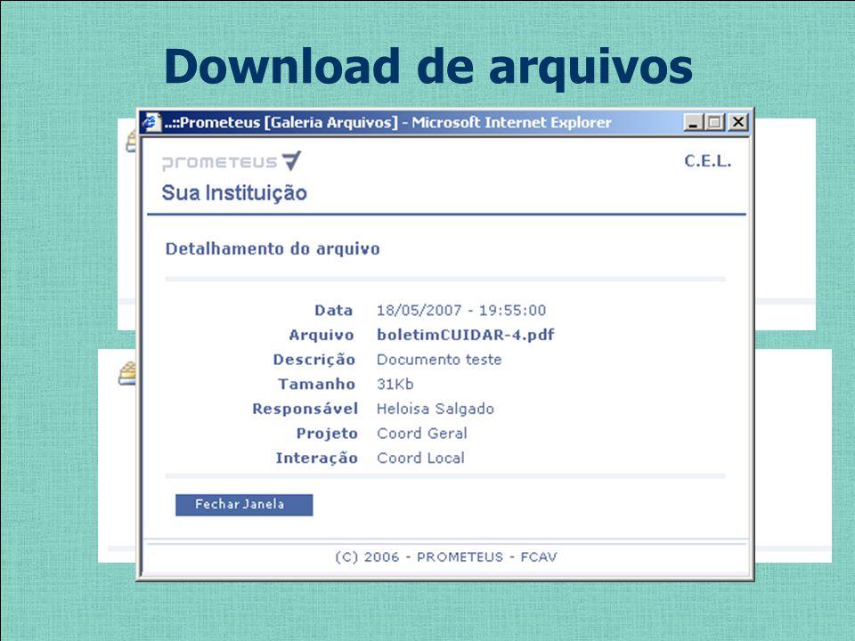 Download de arquivos