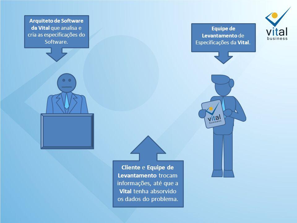 Cliente e Equipe de Levantamento trocam informações, até que a Vital tenha absorvido os dados do problema.