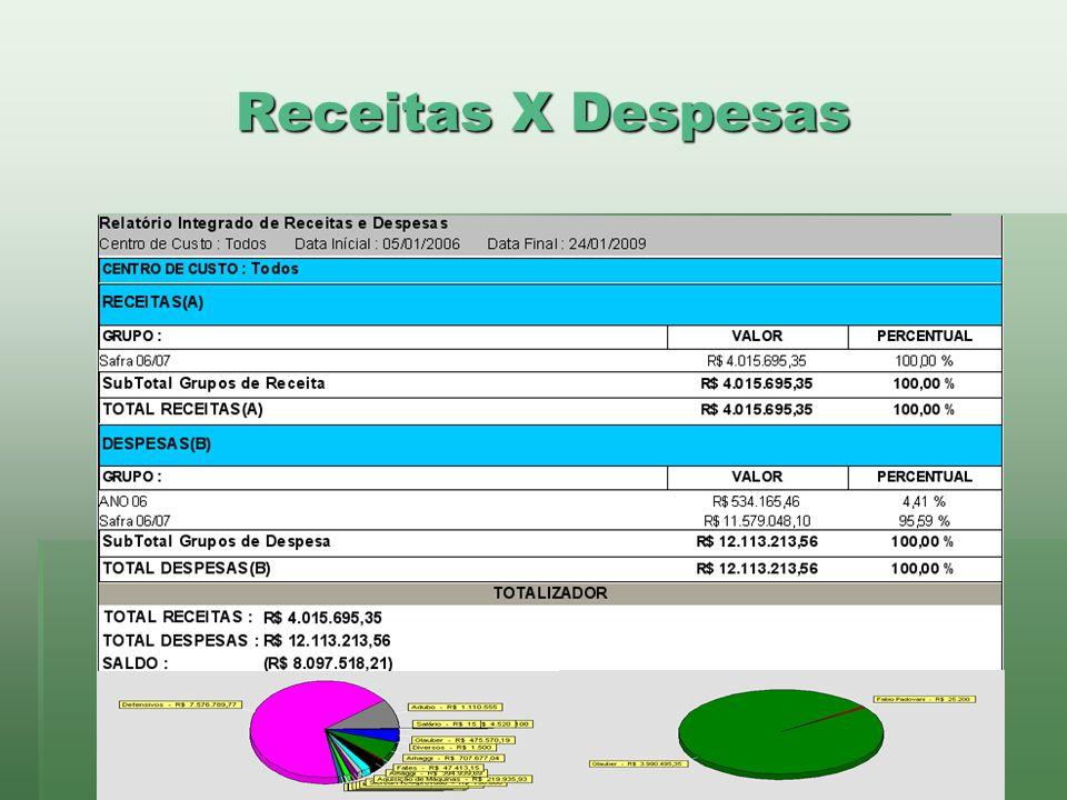 www.brazsoft.com.br (65) 3023 9013 Receitas X Despesas