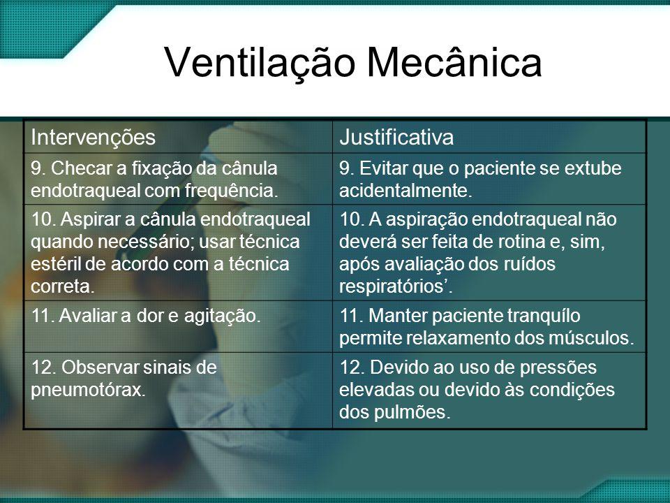 Ventilação Mecânica IntervençõesJustificativa 9.