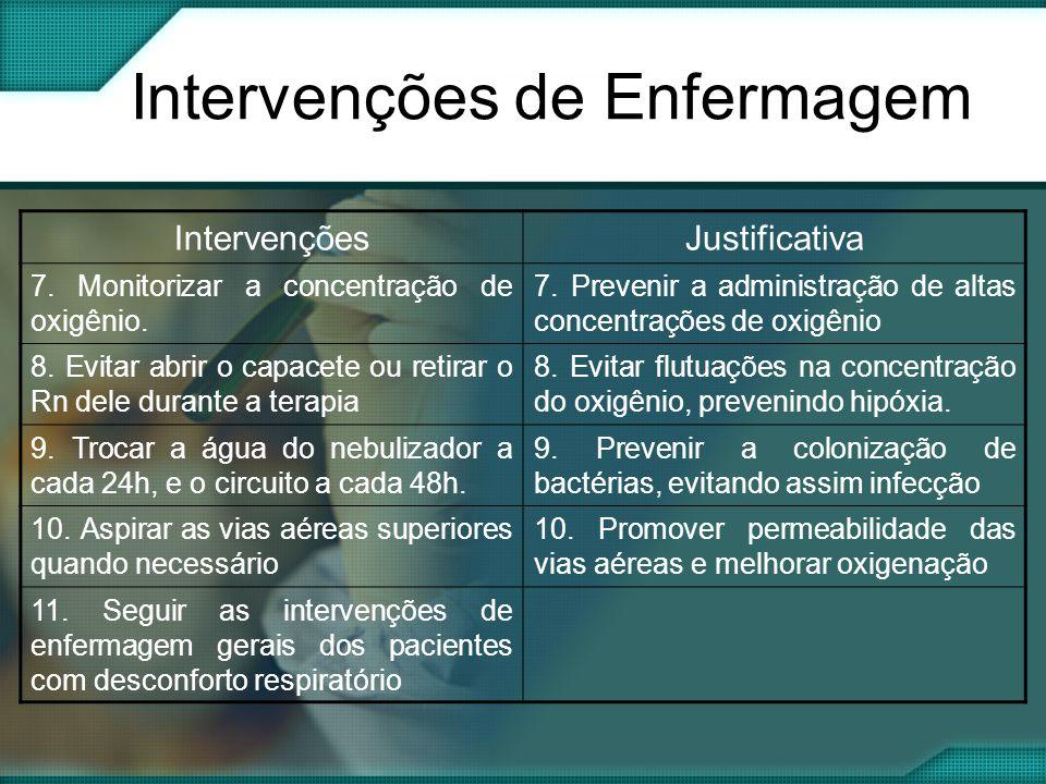 Intervenções de Enfermagem IntervençõesJustificativa 7.