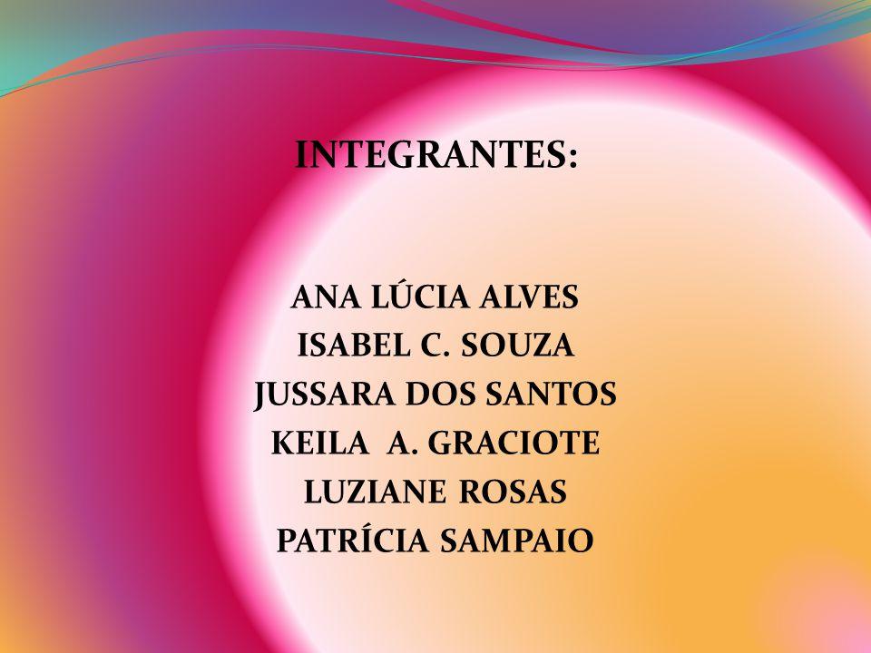 INTEGRANTES: ANA LÚCIA ALVES ISABEL C. SOUZA JUSSARA DOS SANTOS KEILA A. GRACIOTE LUZIANE ROSAS PATRÍCIA SAMPAIO